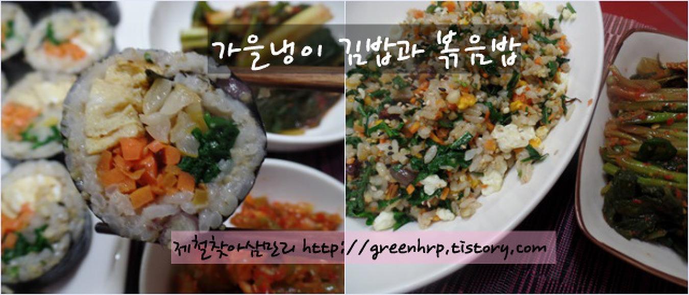 향긋함이 팡팡 터지는 가을별미, 가을냉이김밥과 볶음밥~