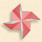 바람개비 종이접기