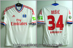 11/12 Hamburger SV Home S/S No.34 Bešić DFB-Pokal Match Issued