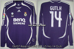 06/07 Real Madrid 3rd L/S No.14 Guti Match Issued (SOLD OUT)