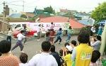 여수신천지자원봉사단, '장등마을 사랑나눔잔치' 열어