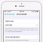 아이폰 진단 및 사용 내용 데이터 삭제하는 방법