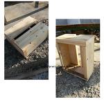 뗄감으로 만든 나무의자
