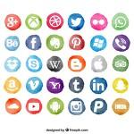 예쁜 SNS 소셜 미디어 플랫 아이콘 일러스트 이미지 15set (페이스북, 트위터, 핀터레스트, 비미오 등)