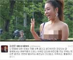 여민정 레드카펫 노출사고 아나운서 김성준 앵커 여민정 드레스 일침