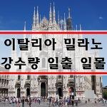 이탈리아 날씨 11월 12월 1월 밀라노 날씨 여행 옷차림