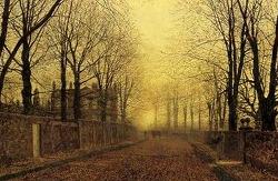 가을의 우수, '존 앳킨슨 그림쇼'의 황금빛 풍경