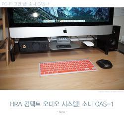PC-FI 고민 끝! 소니 CAS-1으로 HRA 컴팩트 오디오 시스템을 완성하다