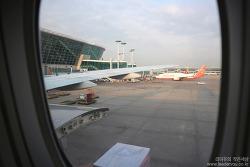 비행기 안에서 본 하늘 사진! with 아시아나항공 기내식 일본 (사진 : 캐논 EOS M10)