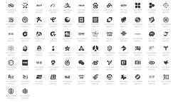 중국 유명 기업, 웹사이트 브랜드 로고 아이콘 폰트(74종)