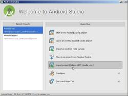 안드로이드 스튜디오(Android Studio)에서 이클립스 프로젝트 불러오기(Import Eclipse Project)