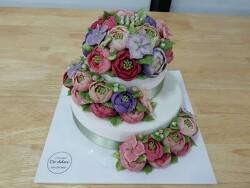 교회가족들과 함께한 생일파티에 보내드린 청라디떡케이크