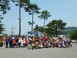 송학초 도민체전 택견 경기 관람 및 성화봉송 응원