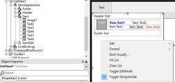 TListView Dynamic Appearance로 추가한 항목을 코드로 제어하기