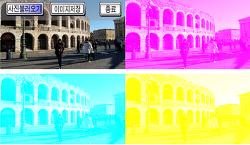 사진 CMY 인쇄물 만들기(스마트폰 앱) - 색의삼원색 분리 및 합성