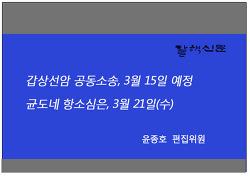 갑상선암 공동소송, 3월 15일 예정, 균도네 항소심은, 3월 21일(수)