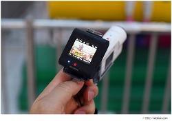여행용 액션캠 가볍게 손가락에 끼우는 소니 BOSS 액션캠 X3000R