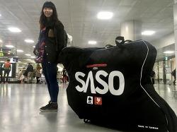 제주도로 떠날때 자전거는? SASO 여행용 자전거 캐리어 가방 Cybag-7