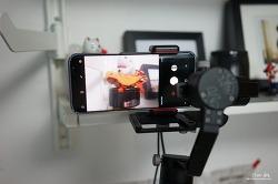 지윤 크레인M 짐벌에 스마트폰 거치하는 방법 (맨프로토 클램프, PIXI 삼각대)