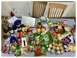 외국손님을 위한 첫 집들이 음식 장보기