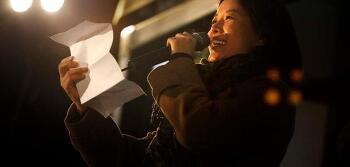김여진 편지낭독, 투표하는 엄마의 마음에 나도 눈물
