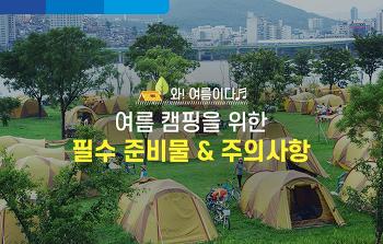 여름 캠핑을 위한 필수 준비물 & 주의사항