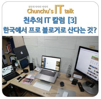 천추의 IT 칼럼 [3] 한국에서 프로 블로거로 산다는 것은 어떤 것일까?