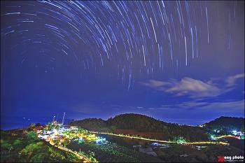태국 치앙마이 몬참의 은하수 흐르는 밤.../ Moncham, Mae Rim