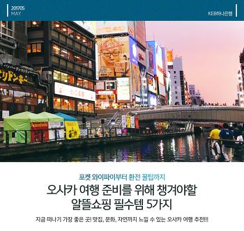 오사카 여행 4박 5일 코스 준비를 위해 챙겨야할 알뜰쇼핑 필수템 5가지