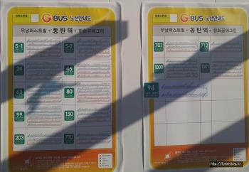 SRT 동탄역 정류장 까지 운행하는 경기 시내버스 노선 정리