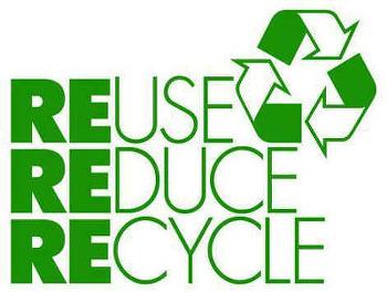 사용절감(reduce), 재사용(reuse), 재활용(recycle)