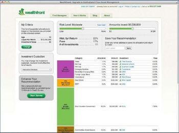 [Wealthfront] Customer Development - 로보어드바이저 포트폴리오 구성 화면