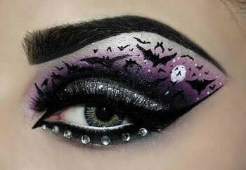 할로윈데이 눈 화장 : 예쁘고 특이한 화장법