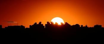 오늘 서울 서쪽하늘의 석양 풍경 Sunset