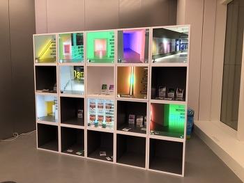 롯데뮤지엄 - 댄플래빈 위대한 빛 전시회 활용 사례