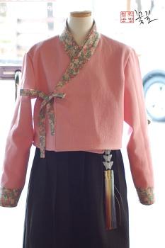 겨울생활한복 잔누비 저고리 허리치마 세트
