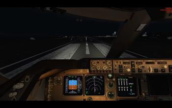 [P3D v4]B747-400, 아시아나 항공, 제주-김포 비행, 이륙 및 착륙 영상