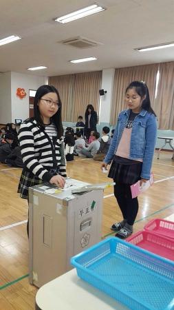 남천초등학교 전교어린이회 선거 시행