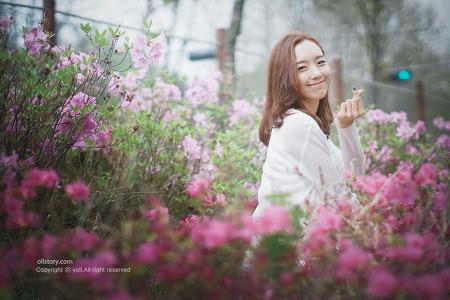 봄꽃과 함께한 개인화보촬영