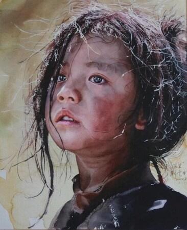 티베트의 자연, 사람을 그린 놀라운 수채화 작품들