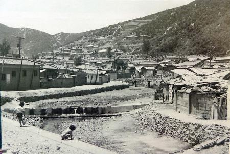 1960년대 안양3동 율목마을과 수암천 풍경