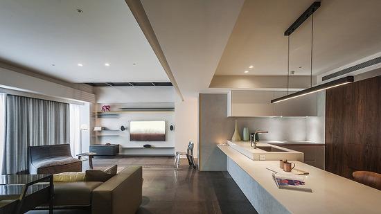 *컴템퍼러리 아파트먼트 waterfrom design evokes the art of fragrances in taiwanese residence