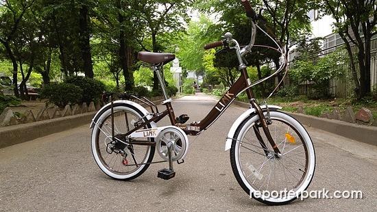 [리뷰] 삼천리 접이식자전거 20링크GS ...예쁘다!