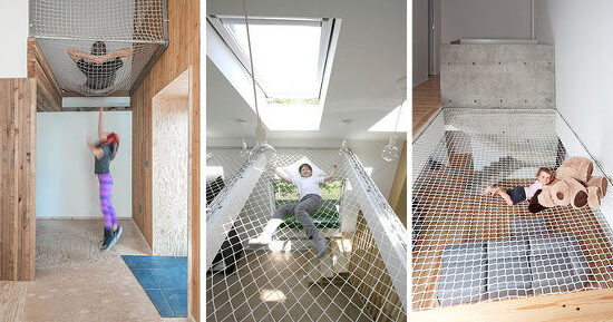 *해먹을 즐기는 방법 These 10 Homes And Offices Have Suspended Nets To Hang Out In