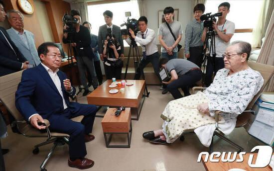 김종필 입원 홍준표 병문안 SNS반응
