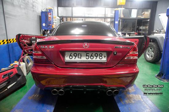 [SLK-R170] 카본 AMG 스포일러 장착(Carbon Spoiler Install) - 양주 지니홉 (Gni Hope)