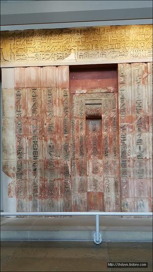 <런던>대영박물관 -이집트관- 프타세프세스의 가문(false door of Ptahshepses)