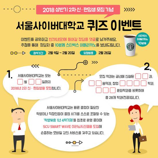 [당첨발표]서울사이버대학교 상반기 신.편입생 모집 기념 이벤트