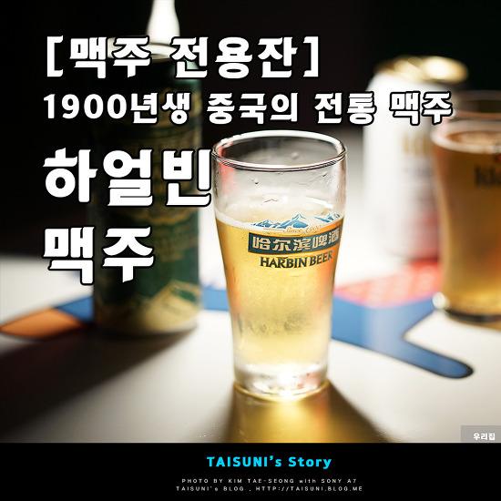 [맥주 전용잔] 1900년생 중국의 전통 맥주 - 하얼빈 맥주