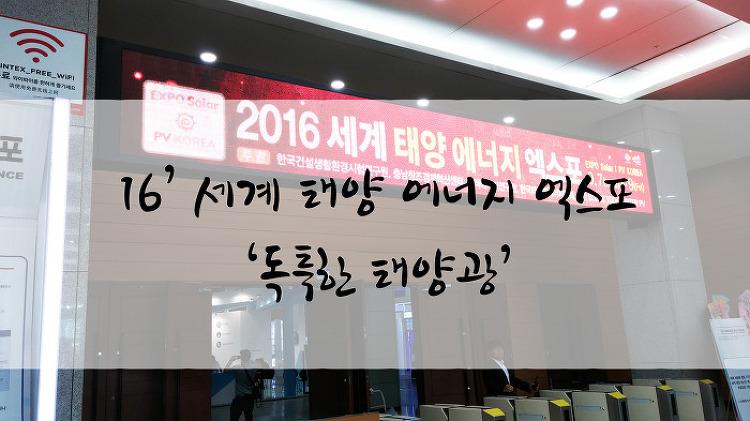 16' 세계 태양 에너지 엑스포, '독특한 태양..